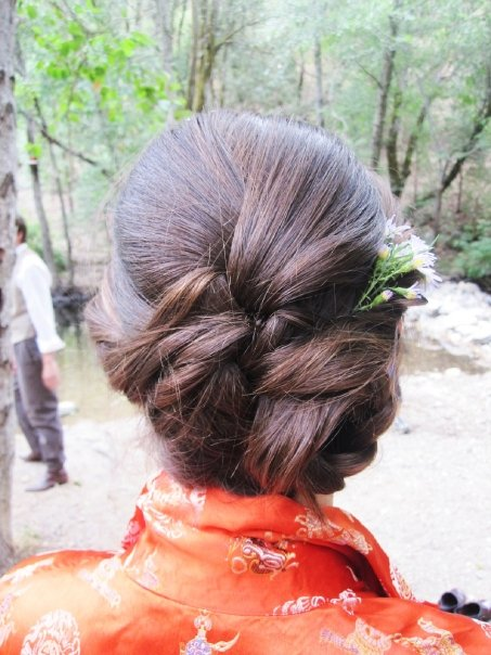 On site wedding up-do
