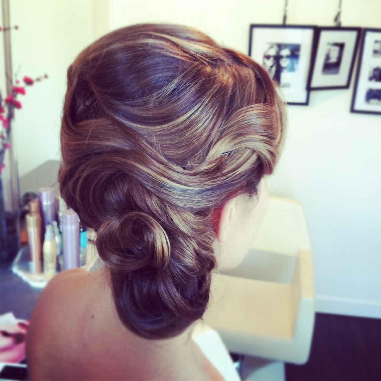 Kristin's wedding hairstyle